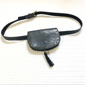 Handbags - Faux leather Waist bag purse  with adjustable belt